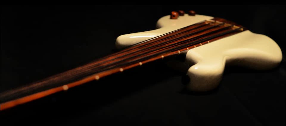 Algan Guitars Custom Fretless Multiscale Bass Twist