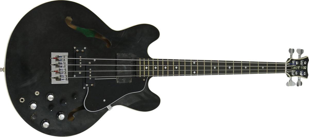 Chris Eccleshall Custom Built Semi-Acoustic 335 Style Bass Guitar