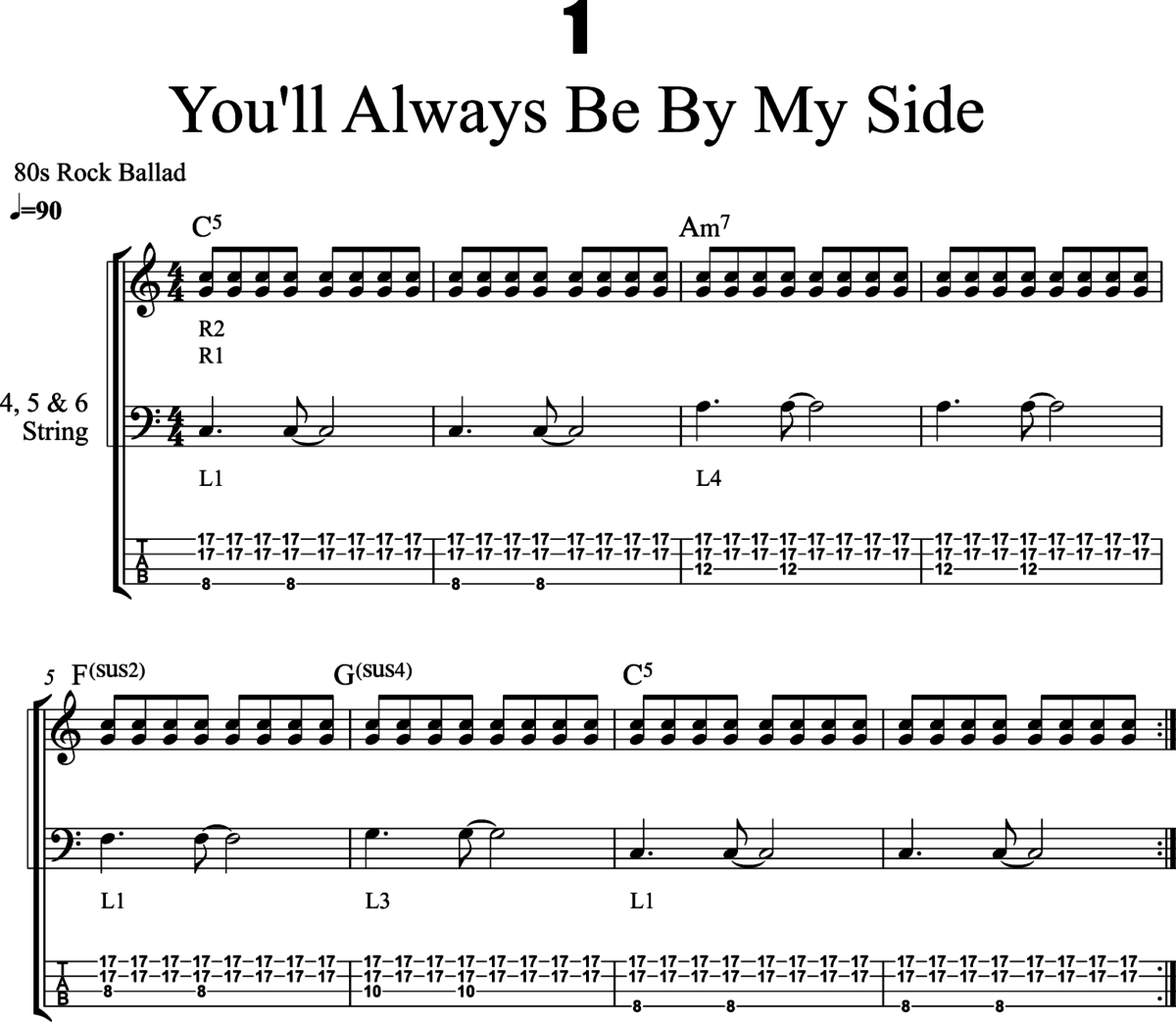 Fig. 1 - Excerpt from Tapping Grooves: Vol.1