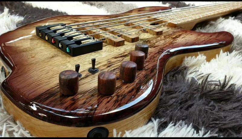 Leones Custom Bass and Kenney James Introduces KJ5 Signature Bass